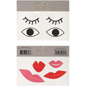 tattoo eyes & lips van merimeri