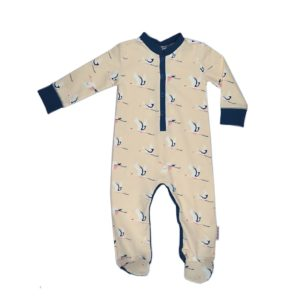 ba*ba footed bodysuit swan maat 56