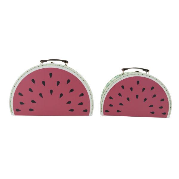 sass & belle grote koffer watermeloen