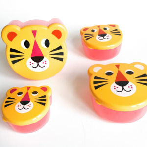 Omm design tijger / tiger face snackboxes