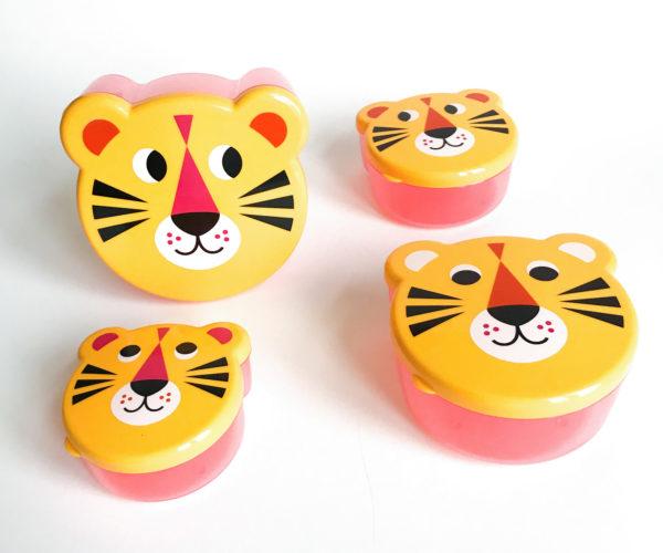 Omm design tijger / tiger face snackboxes