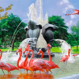 kaartje groeten uit Venlo (fontein)