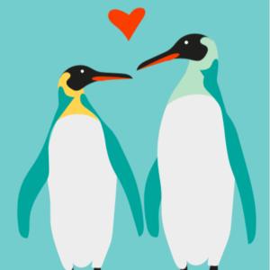 kaartje pinguïns