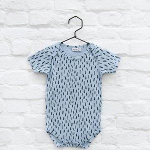 trixie baby romper korte mouw blue meadow