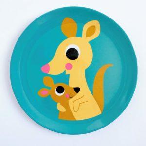 Bord met kangaroo van het merk OMMDesign, ontworpen door Ingela Arrhenius.
