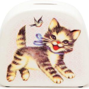kitsch kitchen spaarpot poes kitten katje