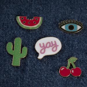 enamel speldje, pin watermeloen, pinnetje, broche