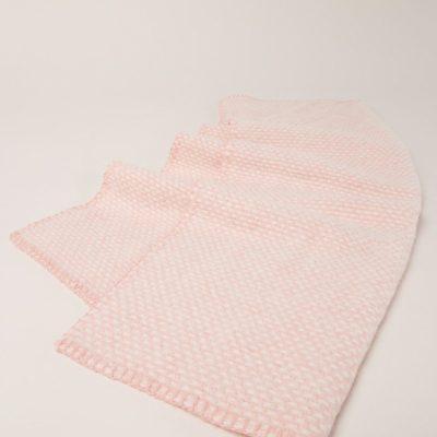 Klippan eco-wol wiegdeken Domino Baby roze