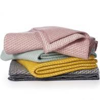 Afmeting van de deken is 90x130cm en hij is gemaakt van100% Eco-wol