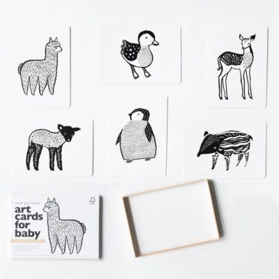 weegallery wee gallery babykaarten art cards baby animals baby dieren