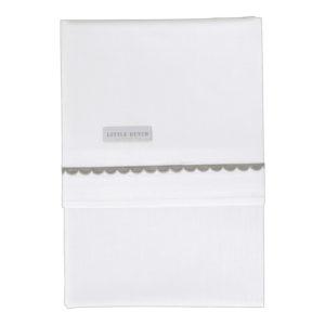 little dutch wieglaken grey rounded / grijs 70x100