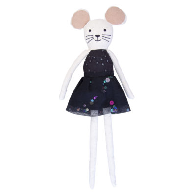 global affairs knuffel / rag doll muis zwart
