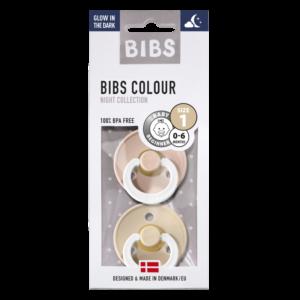 BIBS fopspeen blister T1 0-6 maanden Blister GID Vanilla/blush