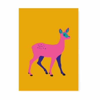 verjaardagskaart kaartje ansichtkaart hertje