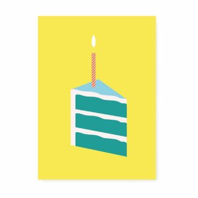 kaartje proficiat verjaardagstaart 1 jaar