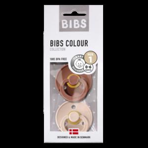 BIBS fopspeen blister T1 0-6 maanden Blister woodchuck/blush