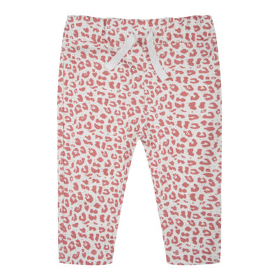 little Indians roze leopard legging broek newborn