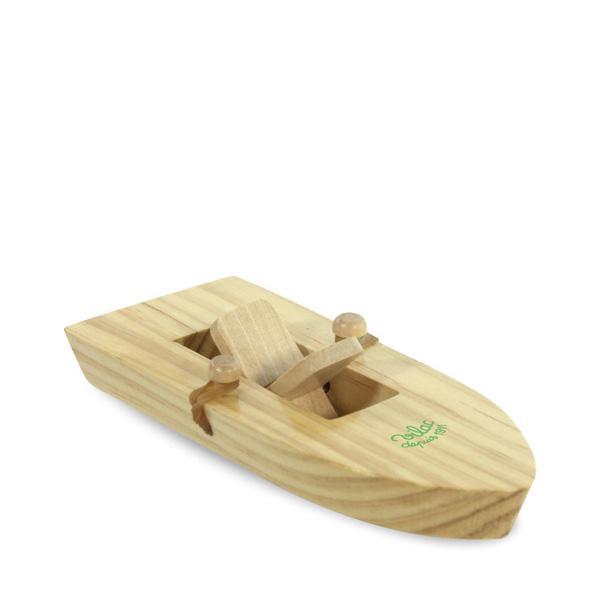 vilac houten boot aandrijving elastie, badspeelgoed