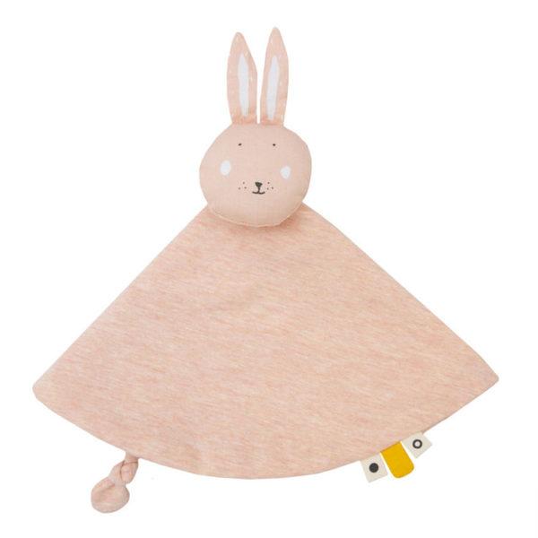 trixie baby mrs. rabbit knuffeldoekje, speendoekje trixiebaby