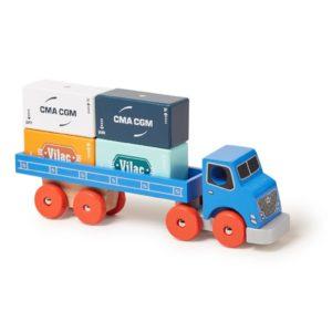 vilac houten container vrachtwagen