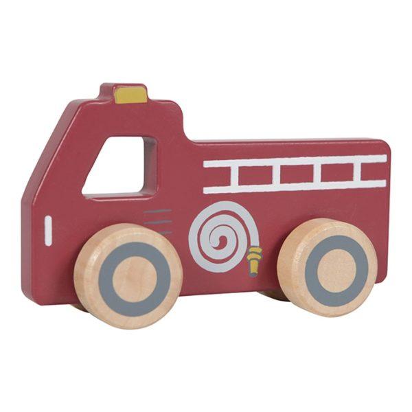 little dutch houten brandweerauto, brandweerwagen, speelgoed auto