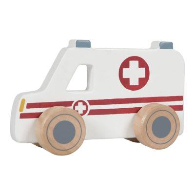 ambulance houten ziekenauto ziekenwagen speelgoed little dutch
