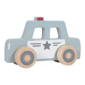 little dutch houten politieauto, politiewagen, speelgoed auto