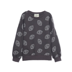 Wander & Wonder sweater eye print charcoal