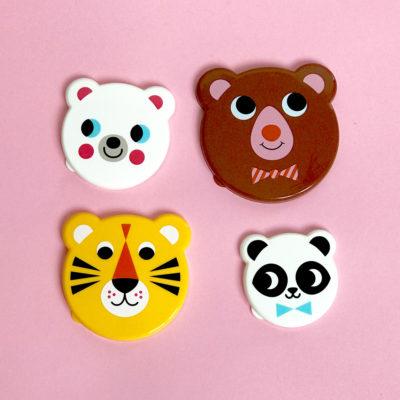Omm design tijger / tiger face snackbox middel grootste
