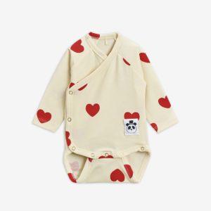 mini rodini overslag romper hearts newborn