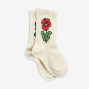 mini rodini sokken viola offwhite