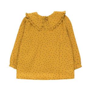 tiny cottons tiny dots shirt mustard/navy