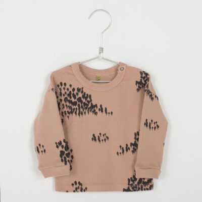 lötie kids sweater forest warm pink
