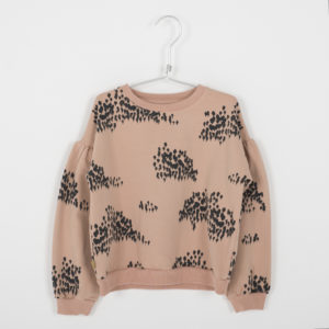 lötie kids sweater forest warm pink.
