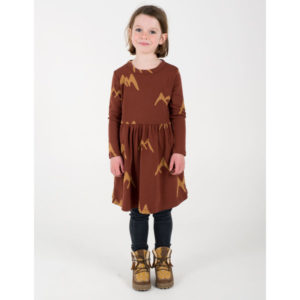 lötie kids jurk mountains rust brown