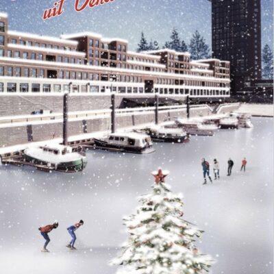 kerstgroeten uit Venlo maasboulevard