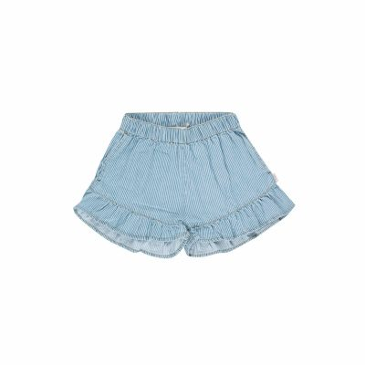 "tiny cottons gestreepte denim met ""frills"""