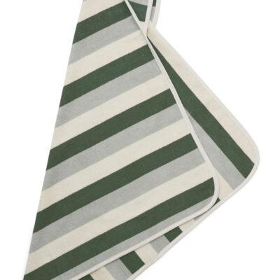Alba hooded baby towel Garden green/sandy/dove blue