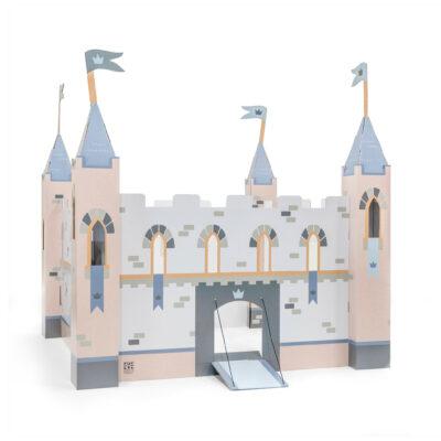 Stip duurzaam speelgoed kasteel blauw