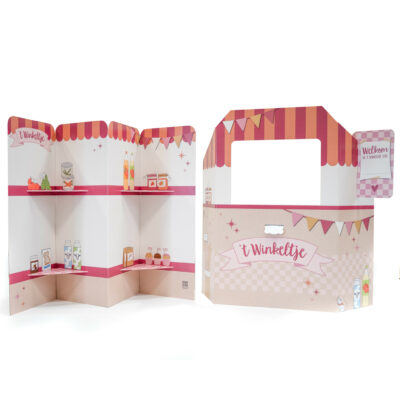 stip duurzaam kartonnen speelgoed winkel