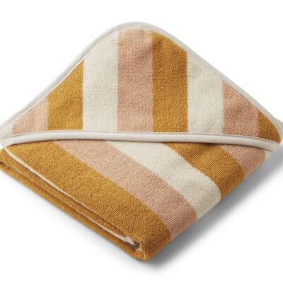 Alba hooded baby towel Garden Peach/sandy/yellow mellow