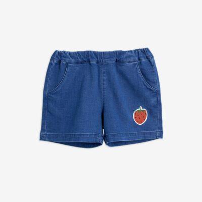 mini rodini denim strawberry shorts