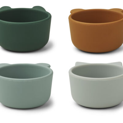 Liewood Malene silicone bowl green multi mix - 4 pack
