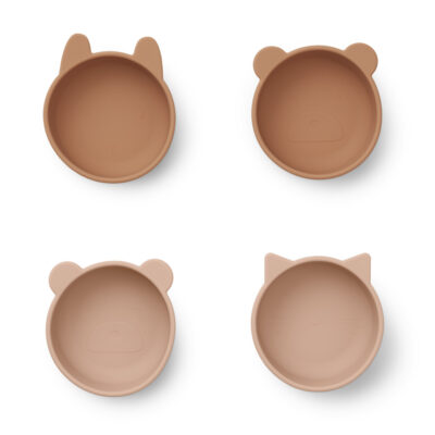 Liewood Iggy silicone bowls - 4 pack Tuscany rose