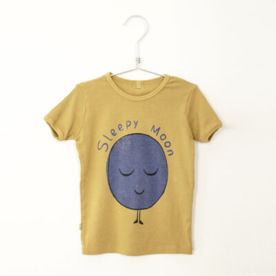 lötiekids sleepy moon t-shirt sun yellow