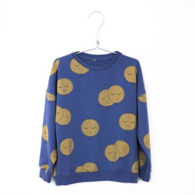 lötiekids moons sweater indigo blauw