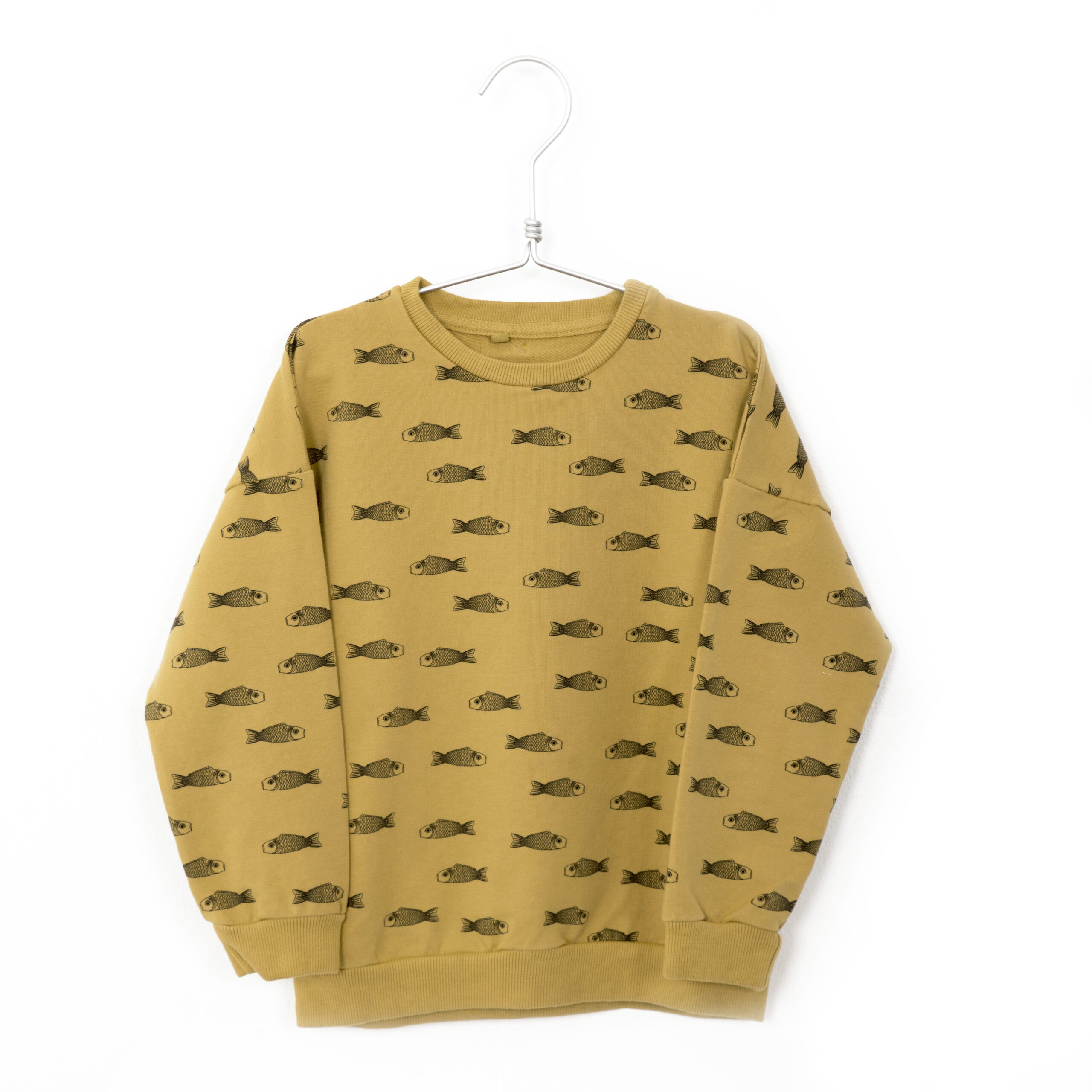 lötiekids fishes sweater sun yellow