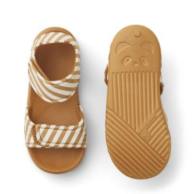 liewood blumer sandalen mustard/sandy