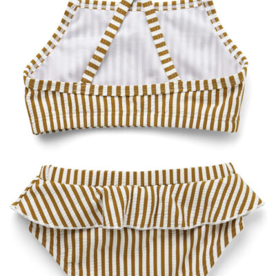 liewood Norma bikini set seersucker mustard/white