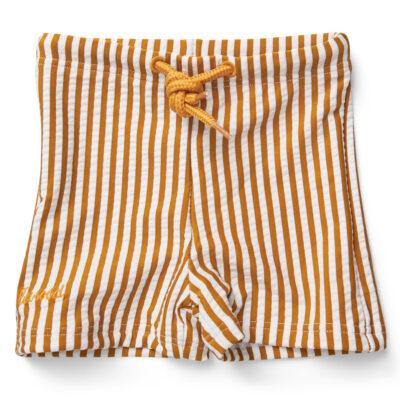 liewood Otto swim pants seersucker mustard/white